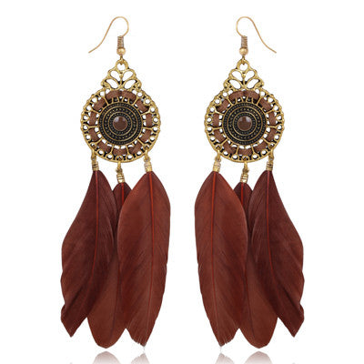 Farha Feather Earrings