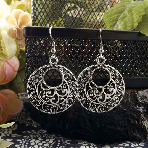 Sheena Antique Silver Earrings