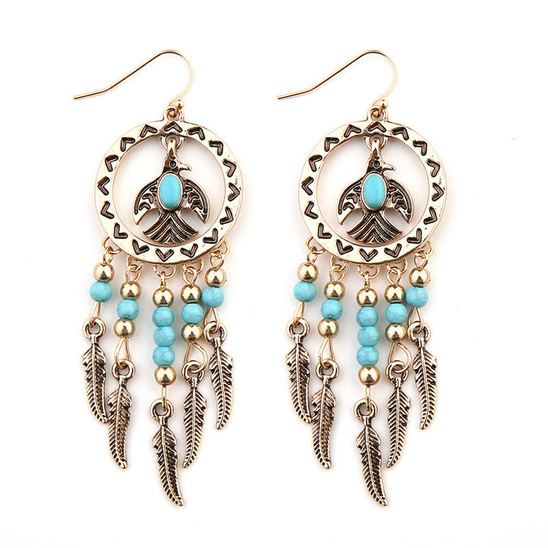 Kwanita Tribal Bird Earrings
