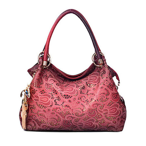 Tooled-vegan-leather-handbag