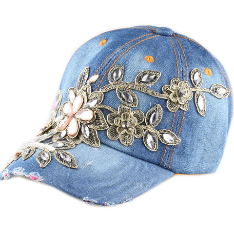 Denim-Bling-Baseball-Cap