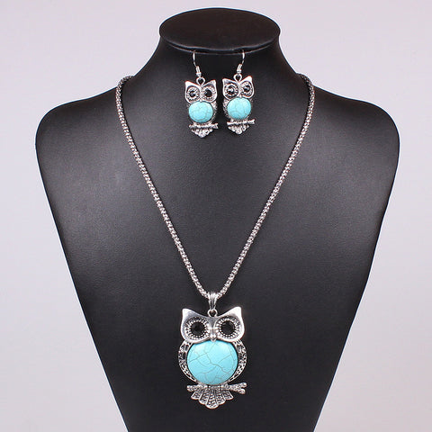 Owl 3 Piece Necklace Set