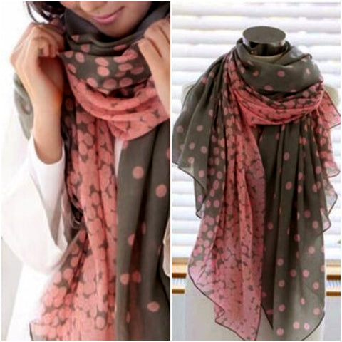 Elegant Long Colored Spring Scarf
