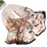 Women's Slik Scarf with Nature Print