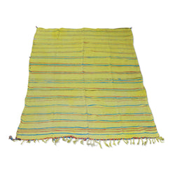 Yellow, Red And Blue Striped Kilim Rug