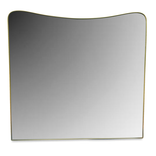 Brass Framed Mirror from France