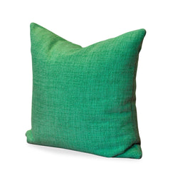 Green Basketweave Pillow