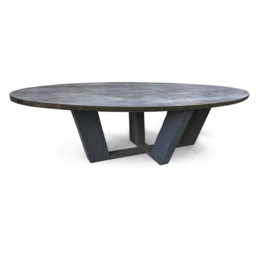 Grey Oval Dining Table