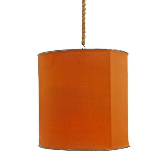 Orange Iron And Linen Light