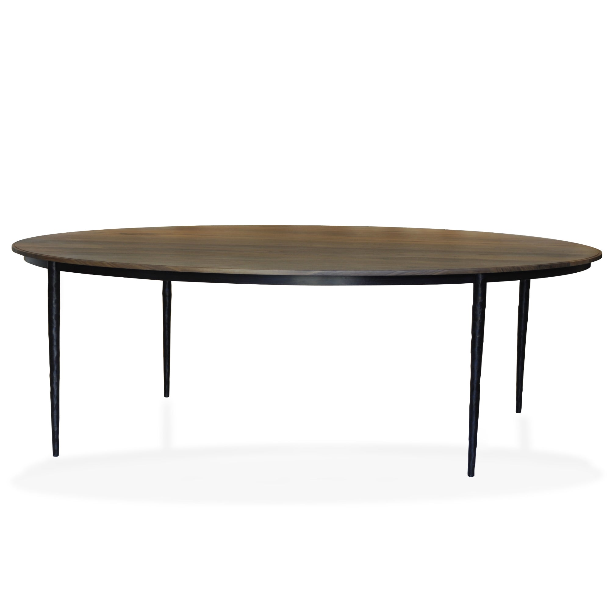 Wood and Iron Round Dining Table