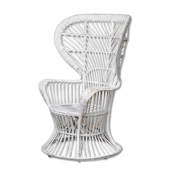 Vintage White Wicker Chair