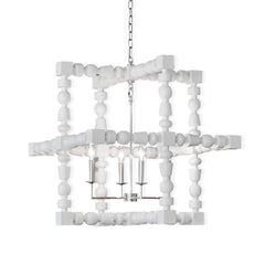 White Wood Spindle Light