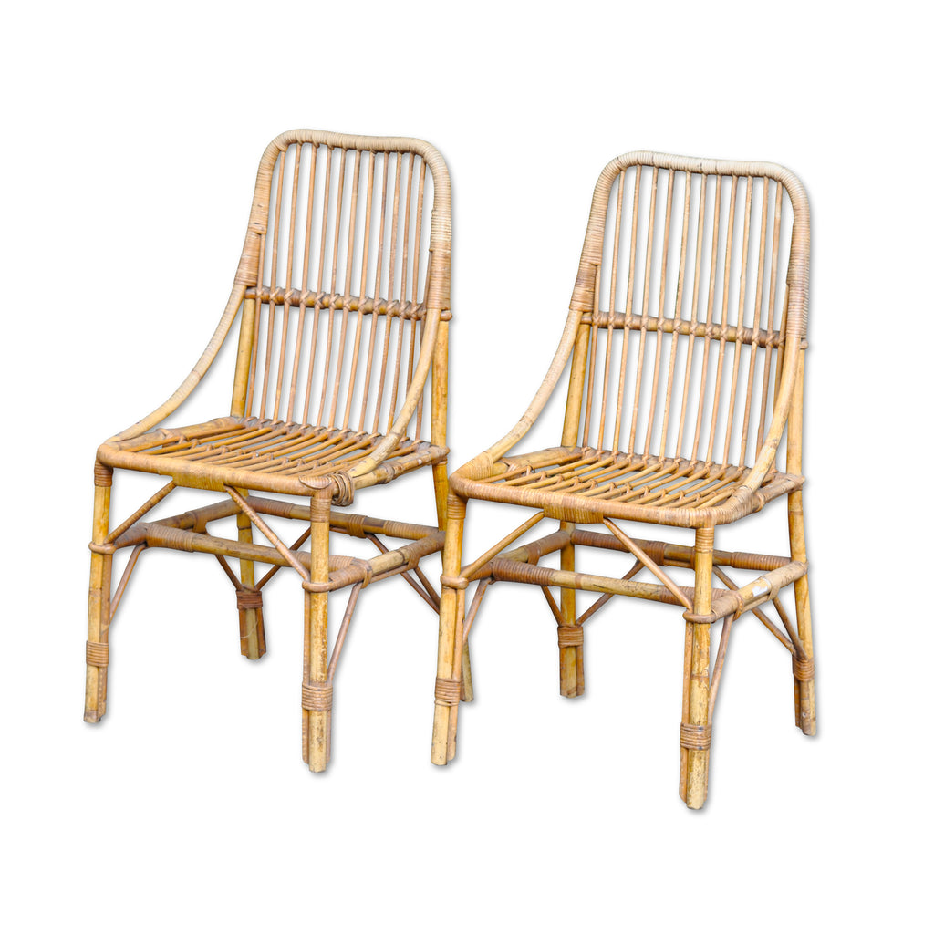 Excellent Vintage Rattan Dining Chair Ocoug Best Dining Table And Chair Ideas Images Ocougorg