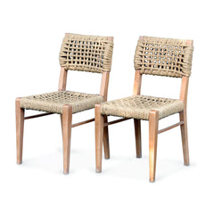 Set of 4 Armless Dining Chairs