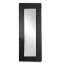 Black Wood Mirror