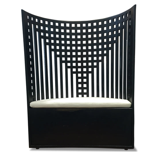 Black Half Circle Chair