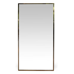 Large Vintage Brass Mirror