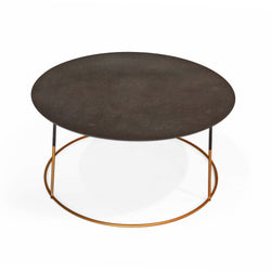 Black Top Coffee Table with Gold Legs