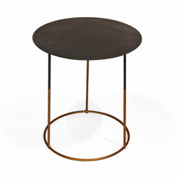 Black Top Side Table with Gold Legs