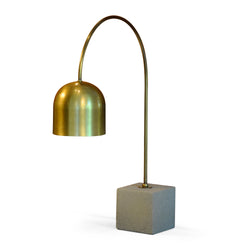 Brass and Cement Task Light