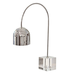 Silver and Acrylic Task Lamp