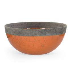 Large Orange Raku Bowl