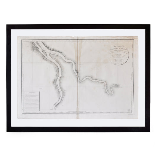 Framed French Map