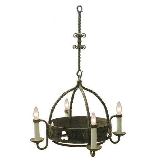 4 Light Round Chandelier