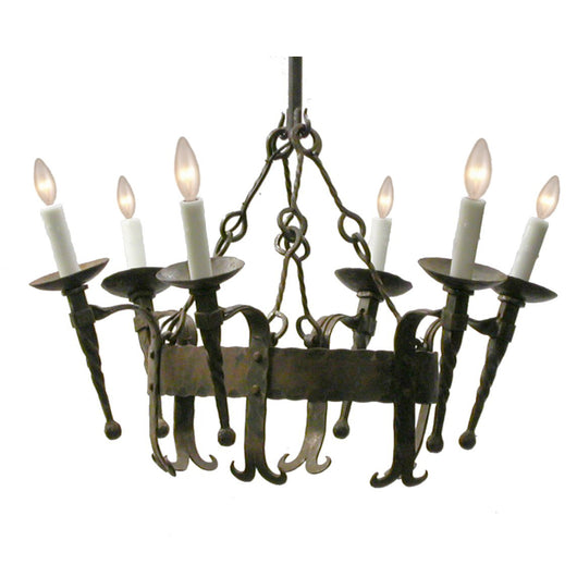 6 Light Oval Chandelier