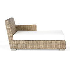 Wicker Chaise With Cushion
