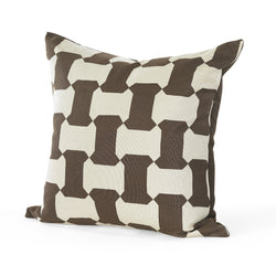 Brown Puzzle Print Pillow