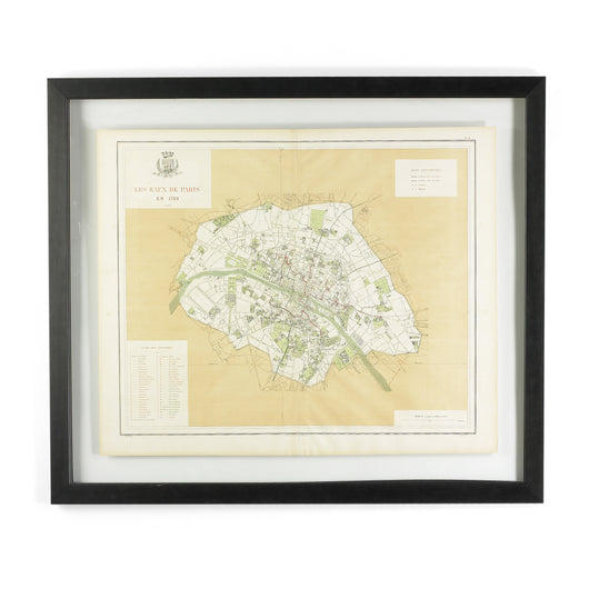 Framed Paris Reconstruction Map