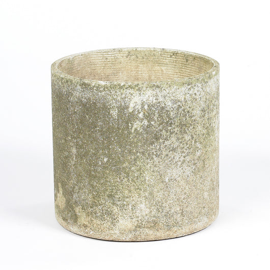 Round Planter With Patina