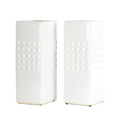 White Vase With Studs