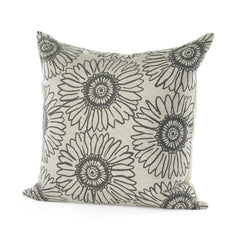 Graphite Sunflower Pillow