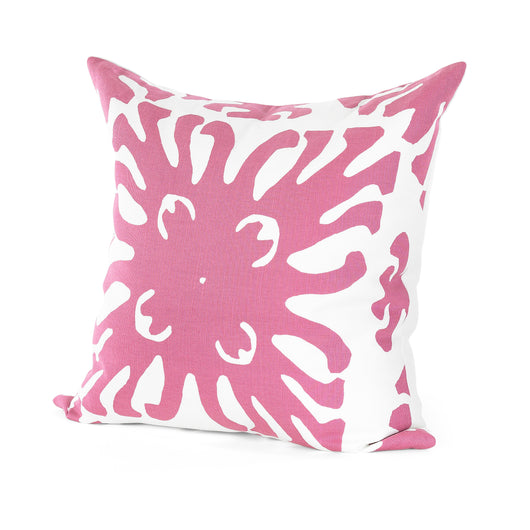Magenta and White Bursts Pillow