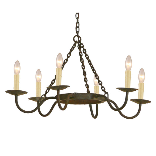 Simple, 6 Arm Chandelier