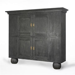 Black Double Door Armoire