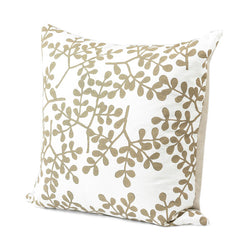 Linen And Taupe Vine Pillow