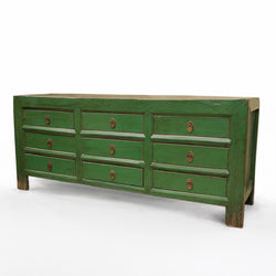 Green Money Chest With 9 Drawers