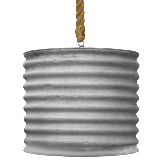 Large Zinc Tub Light
