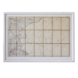 Coastal Map in White Frame