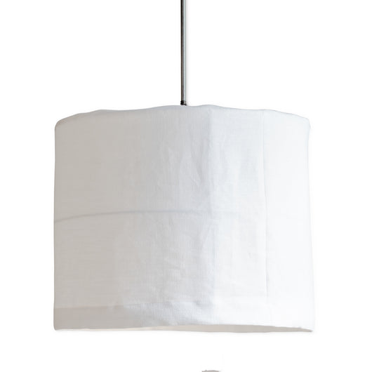 Slipcovered Linen and Iron Frame Light