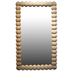 Raw Wood Spindle Mirror