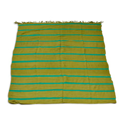 Olive And Green Striped Kilim Rug