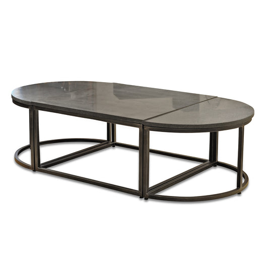 Oval Stone Coffee Table