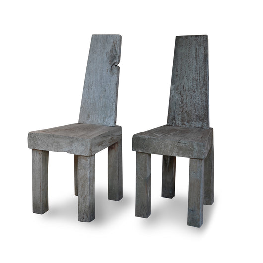 Primitive Wood Chairs, France