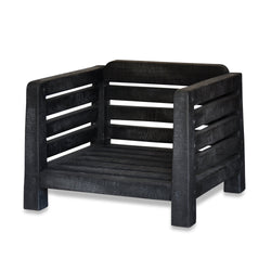 Black Wood Outdoor Chair