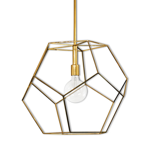 Brass Geometric Light