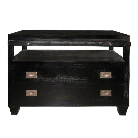 Two Drawer Side Table With Tray